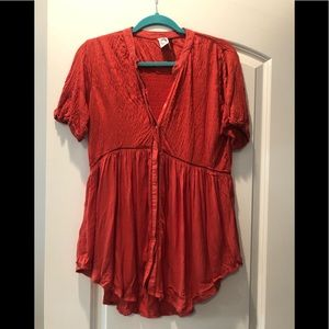 Anthropologie red tunic top!